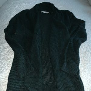 NEVER WORN The LOFT dark green cardigan